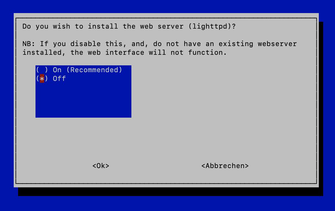 Pi-hole Webserver Installation