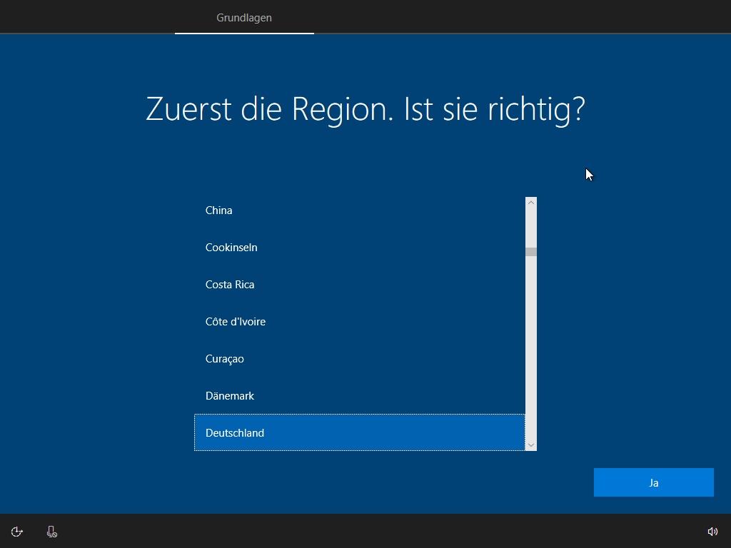Windows Regionseinstellungen