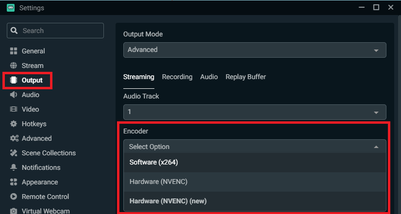 Streamlabs OBS Encoder