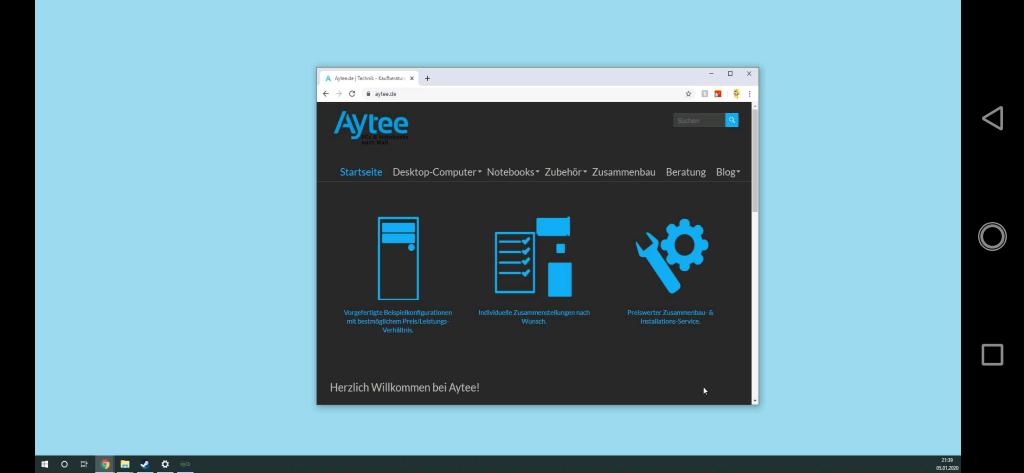 Windows Desktop auf Android Smartphone
